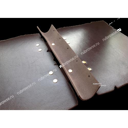 Папка из толстой кожи с кольцевым (D) образным креплением файлов. Болтовое крепления (опция). Цвет на выбор.