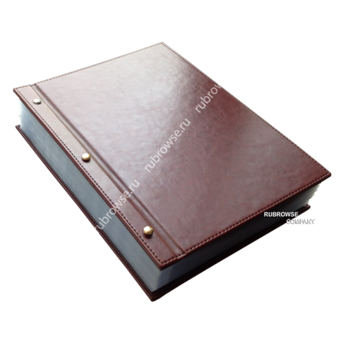 Папка состоящая из двух отдельных жестких обложек, скрепленных болтовым соединением. Цвета на выбор.