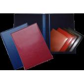 Папки разных цветов в наличии и на заказ, для вкладываемого бумажного листа (адресные, поздравительные, юбилейные, для доклада, на подпись).