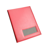 Папка с окном под сменную табличку. Окно позволяет использовать папку для разных мероприятий, меняя новую табличку.