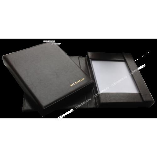 Папка с жестким корешком, тремя жесткими магнитными бортами, под вместимость 3 см. Цвет на выбор.