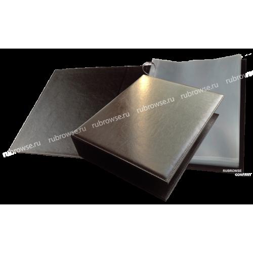 Гостевая книга с большим (D) образным держателем наполнения и жестким корешком. Возможно индивидуальное нанесение (опция). Цвет на выбор.