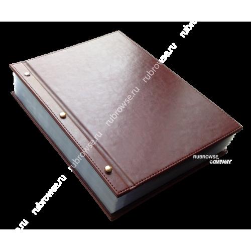 Папка Караоке, состоящая из двух отдельных жестких обложек, а так же болтовым соединением. Цвета на выбор.