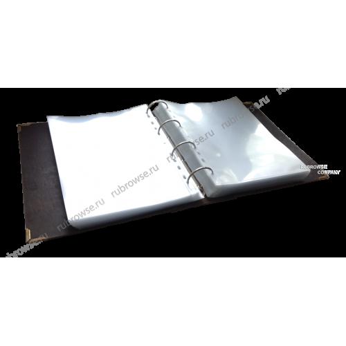 Папка Караоке из толстой вырубной кожи, с оригинальным корешком. Металлические уголки (опция). Цвета на выбор.