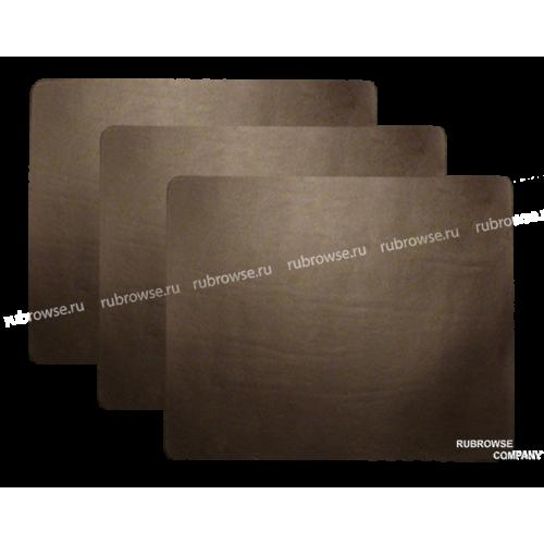 Прямоугольная подложка на стол из толстой вырубной кожи. Индивидуальный размер (опция). Цвет на выбор.