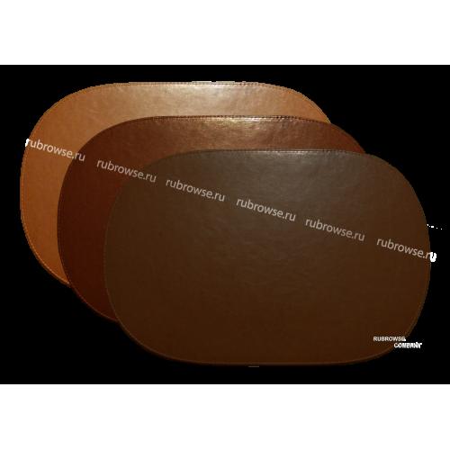 Подложка (Бювар) овальной формы, с прошивкой по периметру, для делового применения. Индивидуальный размер (опция). Цвет на выбор.