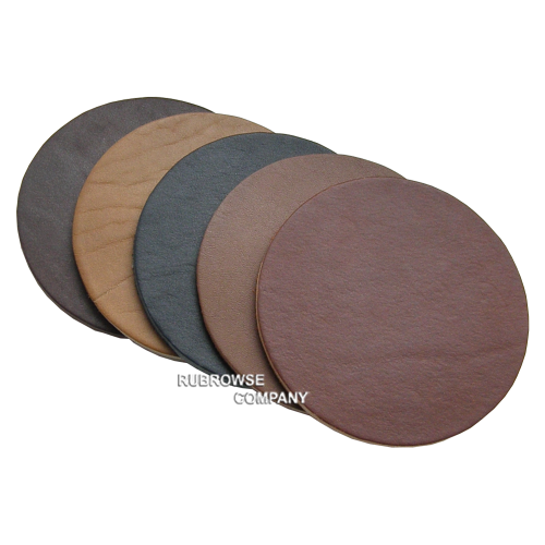 Подложка из толстой кожи круглой формы (Костер) под кружку, чашку и бокал. Индивидуальный размер (опция). Цвет на выбор.